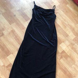 Loft Black Velvet Dress